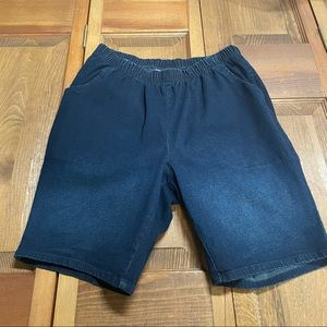 Woman Within Stretch Blue Jean Shorts Plus Size 16